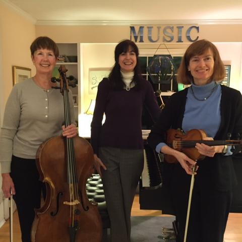 Fran Bard, cello (Cromwell), Stacy Cahoon, piano (West Hartford), and Lisa Kugelman, violin (West Hartford)
