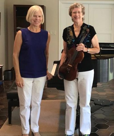 Linda MacGougan, piano and Virginia Allen, violin